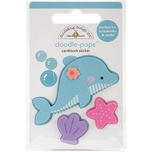 Doodlebug Doodle-Pops 3D Stickers-Daisy Dolphin, Other, Multicoloured, 0.3x6.35x10.16 cm