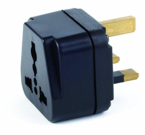 Samsonite Luggage Global Grounded Adapter Plug, Black, One Size