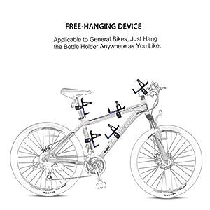 RUNACC Portabidón de bicicleta Ajustable Portabidón para bicicleta Botella Jaula Estante Cochecito Para MTB