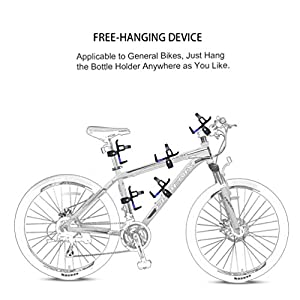 RUNACC Portabidón de Bicicleta Ajustable Portabidón para Bicicleta Botella Jaula Estante Cochecito para MTB (Azul 2pcs)