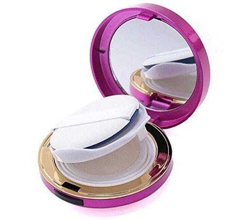 1 étui de 15 ml avec éponge et miroir pour maquillage, trousse de maquillage, trousse de maquillage portable BB crème, fond de teint liquide, récipient pour cosmétiques et cosmétiques - 15 ml