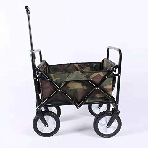 Lxn Mini Klappwagen, tragbare Kinder Outdoor Angeln Camping Gartenwagen Strandwagen mit 4 Rädern, Kapazität 75 kg