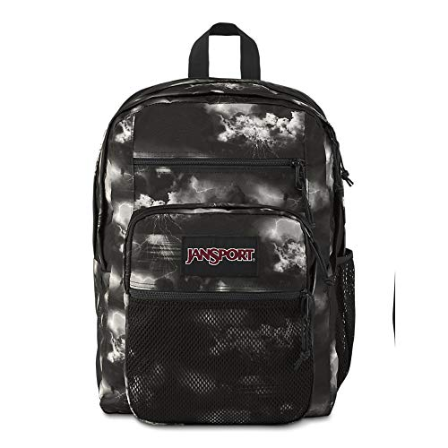 Jansport Big Campus Backpack - Lightweight 15-inch Laptop Bag, Lightning Clouds