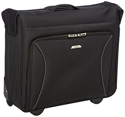"Leisure Vector 44"" Wheeled Garment Bag, BLACK, One Size"