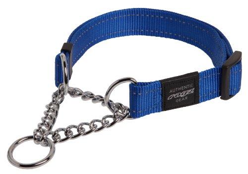 Rogz Utilidad Grande 3/4-inch Reflectante Fanbelt obediencia Half-Check Collar de Perro