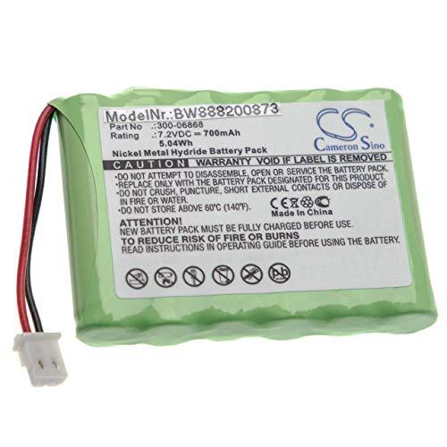 vhbw batería Compatible con ADT Alphanumeric Keypad Control de Alarma Seguridad (700mAh, 7,2V, NiMH)