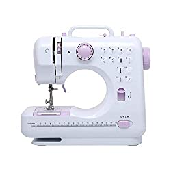 Multifunction Sewing Machine: Double Thread & Double Speed helps you create neat, straight and firmer stitch. Supports seam, hem, buttonholing, auto winding etc. Free arm for circular sewing on cuffs or trouser bottoms, this mini sewing machine built...