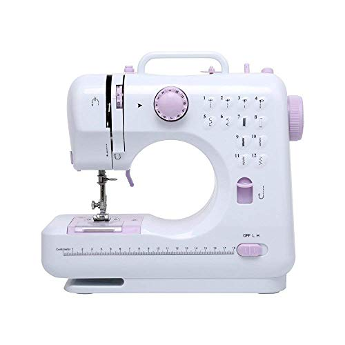Like-very Máquina de coser portátil con pedal, 12 puntadas, 2 velocidades, máquina de coser Heavy Duty eléctrica para bordar, para acolchados y Overlock