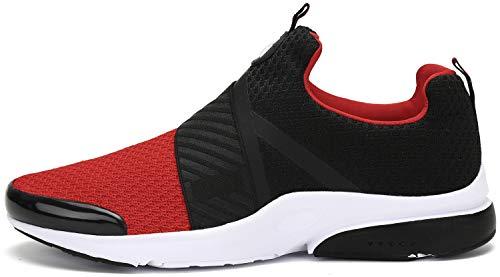 Zapatillas Running para Hombre Gimnasio Zapatos Antideslizante Liviano Deportivas para Correr Trail Rojo 44 EU