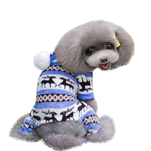 Bluelucon Fashion Huisdier hond warme kleding Puppy Jumpsuit hoodie Coat Doggy huisdierkitzvlies