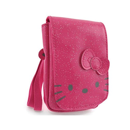 Hello kitty by camomilla - Poche Portable / mp3 - Glitter Funny Face - Fuchsia