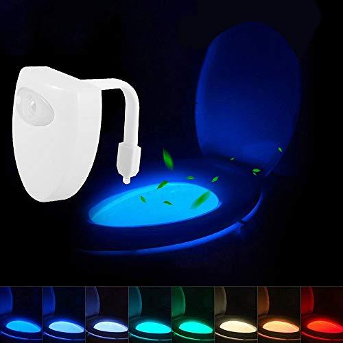 Toilette Licht WC Nachtlicht LED Toilettenlicht USB 8 Fabre Beleuchtung Lichtsensor Bewegungs Sensor Wasserdicht