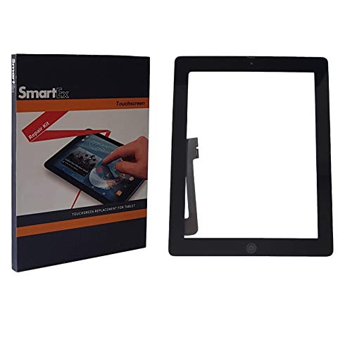 Smartex® Scherm compatibel met iPad 4, Zwart/Display Touch screen Digitizer