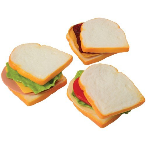 Constructive Playthings Make-A-Sandwich Pretend Play Food for Kids