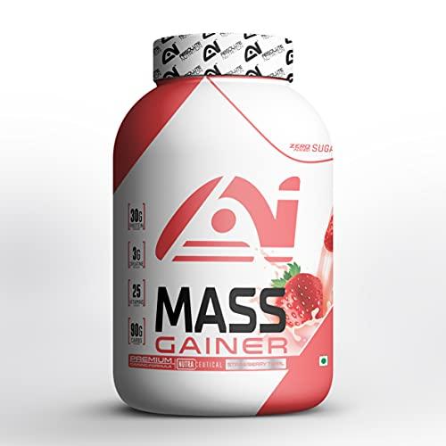 ABSOLUTE NUTRITION Mass Gainer Supplement Powder (Strawberry, 1 Kg)