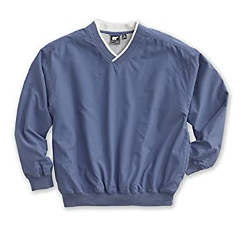 White Bear Clothing Co Microfiber Windshirt  Style 5150  - 14 Sizes  XS-5XL LT-4XT  XL Atlantic Blue/Ivory