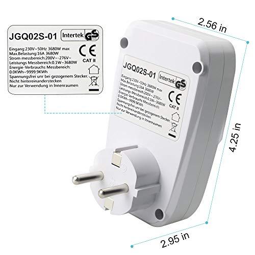 Gifort enchufe medidor de consumo de energía, amplificador de ...
