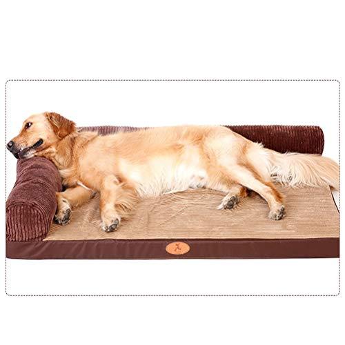 DIAOSI Chongwuwo Uitneembare bruine huisdier bed hond slaapzak huisdier benodigdheden -120 * 90cm / 100 * 80cm / 80 * 60cm / 60 * 45cm, L, 2 backrest