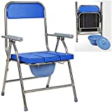 WEHOLY 3-in-1 Stuhl, faltbar, Edelstahl Lavatory Stuhl, Schwerlaststuhl/Hilfe, 400 lbs