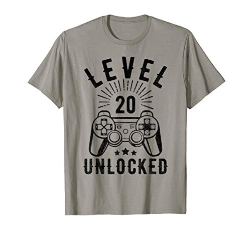 Regalo del 20 cumpleaños de Funny Video Gamer Camiseta