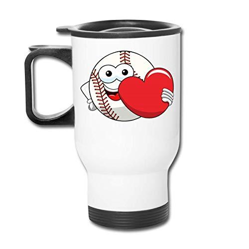 Vaso republicano de regalo deportivo de jugador de corazón de béisbol - Vaso con doble aislamiento - Taza de café de 30 onzas para automóvil, viajes, trabajo