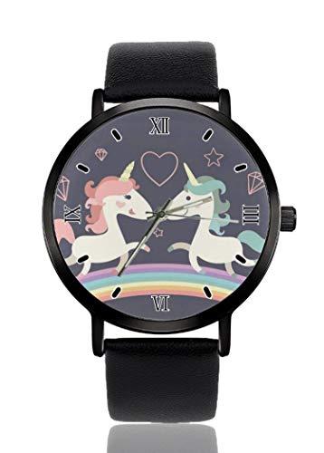 PALFREY Unicorn Love - Reloj de pulsera deportivo deportivo deportivo deportivo de cuarzo para mujeres y hombres impermeable unisex
