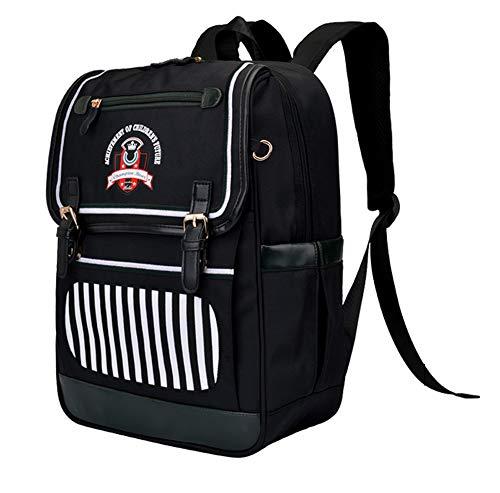 Schoolbag Schulrucksack für Kinder Jungen Mädchen Primärtasche 7-12 Jahre Reisetasche Wasserdicht Oxford für Kinder Outdoor Rucksack für Kinder kleine Prinzessin mehrfarbig Black Green One size