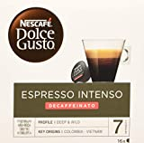Nescafé Espresso Intenso Descafeinado, 6 packs de 16 cápsulas, Pack de 1