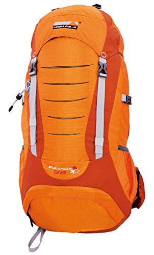 High Peak Damen Rucksack Equinox, Orange/Dunkelorange, 30 x 34 x 69 cm, 38 Liter