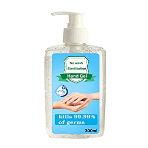kanyankeji Refreshing Hand Soap Gel to Instant Skin Cleansing, 300ML Disposable Hand Sanitizer Gel for Adults & Children, Soft and Non-irritating Hand Sanitizer Gel - Rinse-Free Hand Cleanser (Clear)