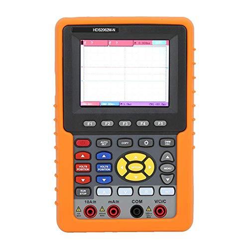 BXU-BG Multi-función Meter, HDS2062M-N 3en1 digital portátil LCD 2 canal del osciloscopio multímetro Frecuencia Meter (GB)