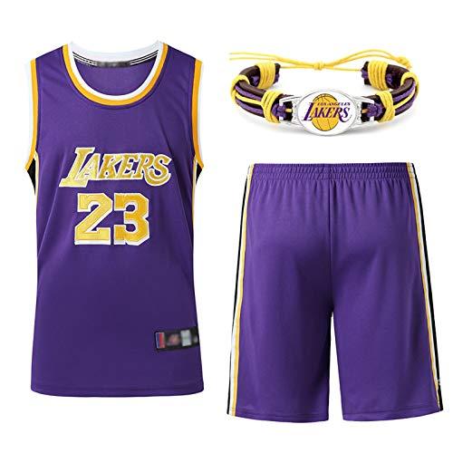 GAOXI Lakers 23# - Camiseta de baloncesto para hombre y mujer, diseño de baloncesto con bordado transpirable, color morado