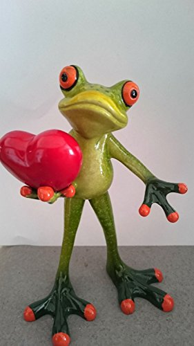 formano Frosch stehend grün mit Herz rot Fröschen hellgrün lustiger Dekoartikel 717924