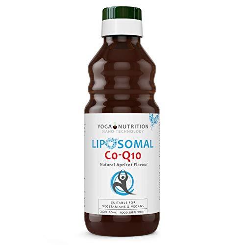 Liposomal Coenzyme Q10 Liquid - 250ml - Inga artificiella konserveringsmedel - Perfekt för statinanvändare - av Yoga Nutrition