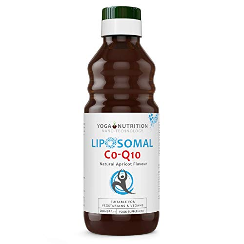 Liposomal Coenzyme Q10 Liquid - 250ml - No Artificial Preservatives - Ideal for Statin Users - by Yoga Nutrition