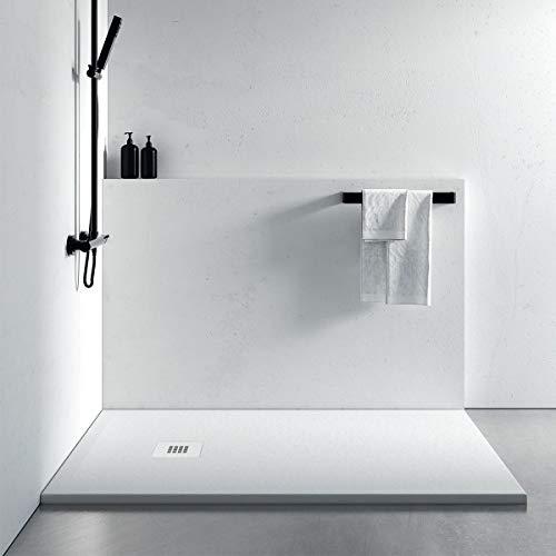 Piatto Doccia Bianco Mineral Marmo | Pietra Plus, 100x100