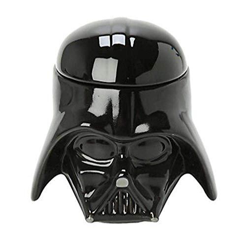 XYSQWZ Juego De Té Tazas Taza Cssic Stormtrooper Darth Vader Taza De Casco Taza De Cerámica 3D para Bebidas De Agua Té Y Café con Tapa Vajilla A Juego De Té