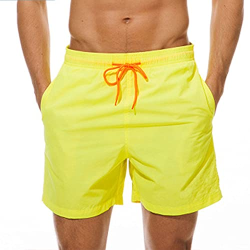 LVLUOKJ Bañador para hombre, de secado rápido, para playa, con forro de malla y bolsillos (color 14, tamaño: XL)