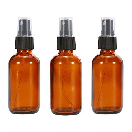 Anself Sprühflasche anself 3 x 50ml kosmetik zerstäuber beauty glas braunglasflaschen sprühflasche für reisen amber farbe