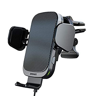 ZOOAUX Fast Wireless Car Charger Vent Mount, Au...