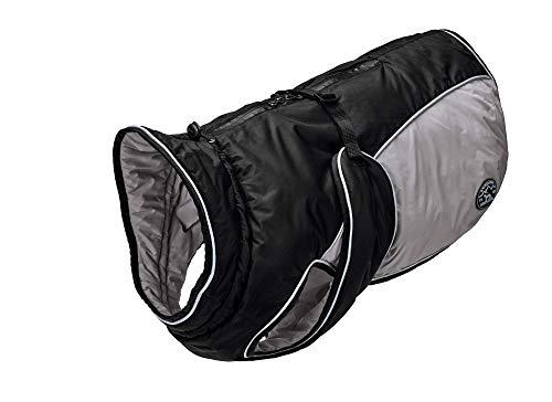 HUNTER UPPSALA EXTREME Hundemantel, Wintermantel, wasserabweisend, reflektierend, 70, schwarz/grau