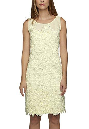 APART Fashion Damen A-Linie Kleid 68202, Knielang, Einfarbig, Gr. 36, Gelb (vanille)