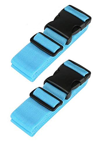 2 Pack Luggage Straps, Adjustable Travel Suitcase Baggage Belts Accessories Heavy Duty Non-Slip with Buckle Closure