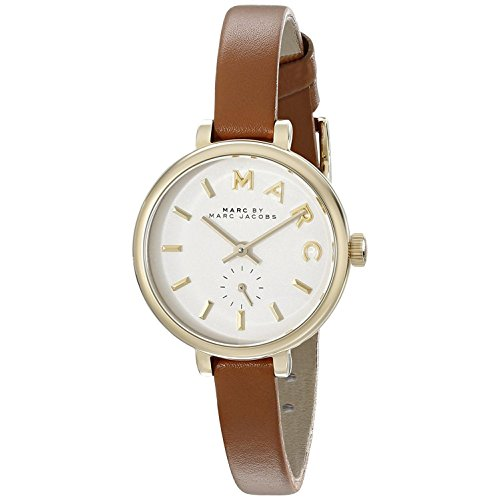 Marc by Marc Jacobs Damen Analog Quarz Uhr mit Leder Armband MBM1351