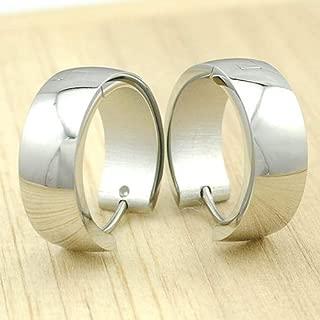 HUAYI 2015 Trendy,Men's Hoop Earrings,Simple Style 316L Stainless Steel Earrings Wholesale KE028