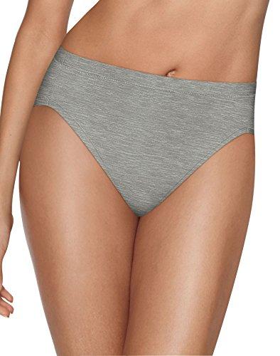 Hanes Women's Ultimate Cool Comfort Hi Cut, Buff/Silver/Grey/Black, 8