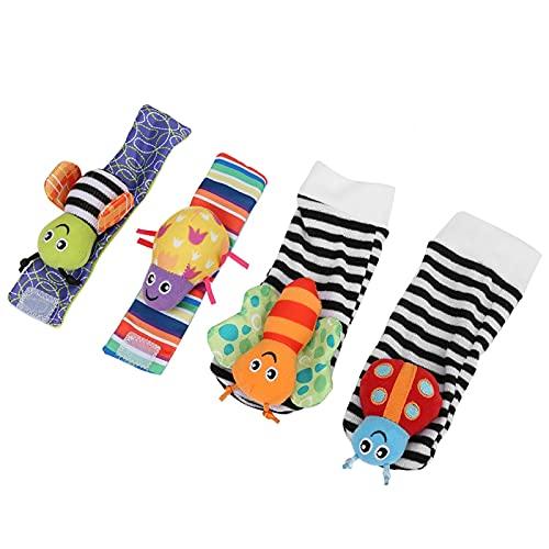 Calcetines suaves para bebés saludables, calcetines para bebés, juguetes respetuosos con el medio ambiente para bebés de 0 a 2 años para mejorar la sensación del bebé(A set of wristband socks)