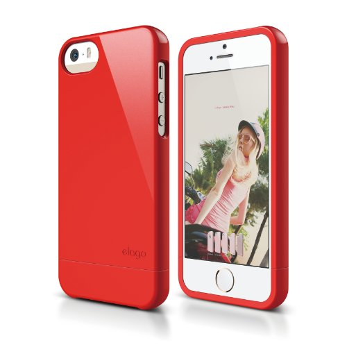 iPhone SE case, elago [Glide][Extreme Hot Red] - [Mix and Match][Premium Armor][True Fit] - for iPhone SE/5/5S