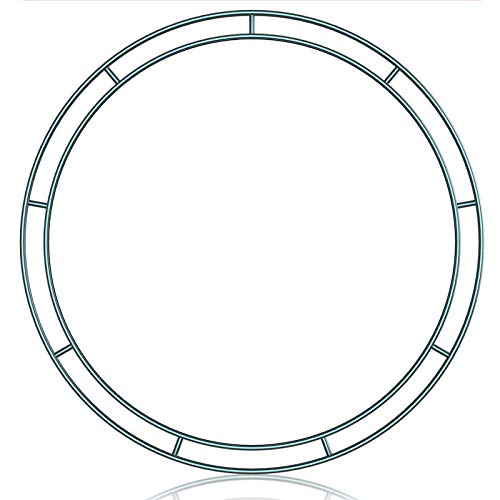 æ—  5 Pieces Metal Wreath Frame Ring Round DIY Macrame Floral Crafts Wire Wreath Form Perfect for Macrame,Dreamcatcher,Embroidery,Wreaths and More