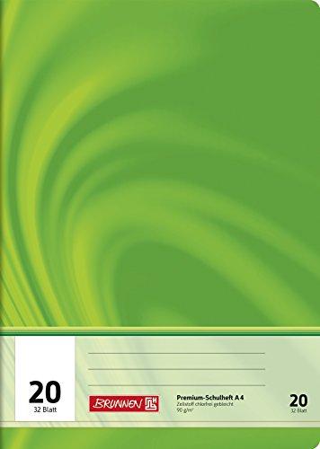 Brunnen 104442002 Schulheft A4 Vivendi (32 Blatt, blanko, mit Linienblatt, Lineatur 20)
